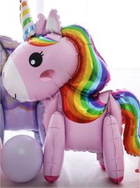 Folie ballon unicorn - eenhoorn 55 x 47 cm