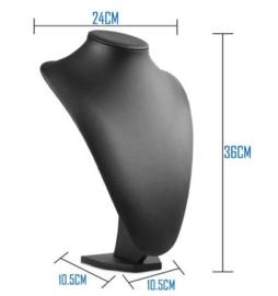 Sieraden display lederlook 36cm
