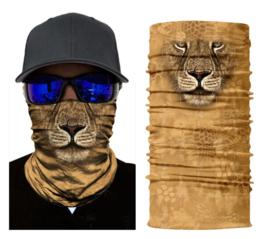 Motor bandana - colsjaal - buff sjaal - motor masker - ski masker - motor gezichtsmasker - ski gezichtsmasker leeuw