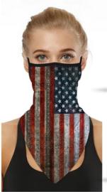 Motor sjaal - motor masker - ski masker - motor gezichtsmasker - ski gezichtsmasker Amerikaanse vlag