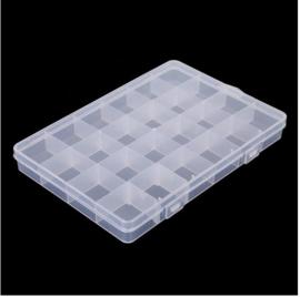 Opbergbox 19x13x2,1 cm met 24 vakjes