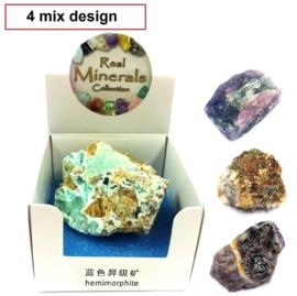 4 stuks natuurstenen in doosje