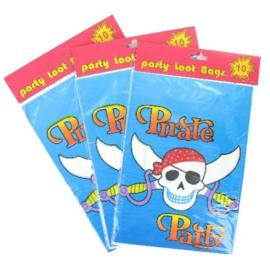 20 stuks verjaardagszakjes / traktatiezakjes Pirate party