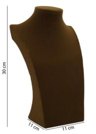 Ketting display bruin fluweel 30 cm