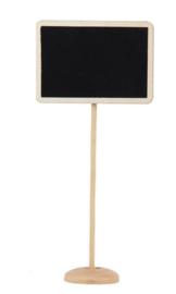12 stuks houten mini krijtbordjes met standaard