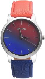 Horloge rood blauw regenboog