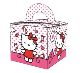 16 stuks traktatiedoosje Hello Kitty junior 6 x 5 cm karton