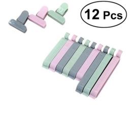 12 stuks vershoud clips / sluitingen plastic zakken / chipszakken
