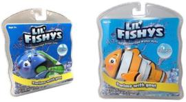 2 stuks verschillende Nemo zwemmende vissen waterpets 16x16 cm