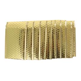 50 stuks luxe luchtkussen enveloppen goudkleur 25x15 cm