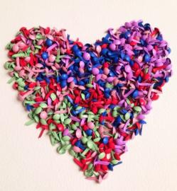 500 stuks gekleurde splitpennen