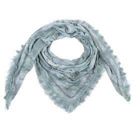 Sjaal met print en tekst