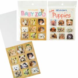 2 stuks dieren stickerboekjes = 360 stickers