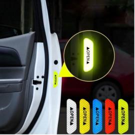4 stuks auto portier reflecterende waarschuwingstape