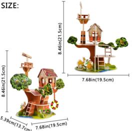 Kartonnen 3D puzzel boomhut