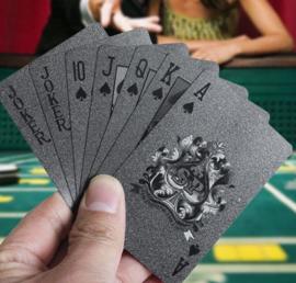 Luxe set speelkaarten plastic zwart