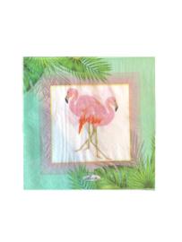 20 stuks servetten flamingo