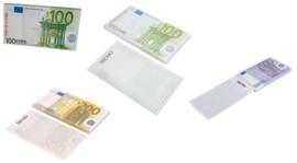 3 stuks memoblokken briefgeld 500 - 200 - 100 euro