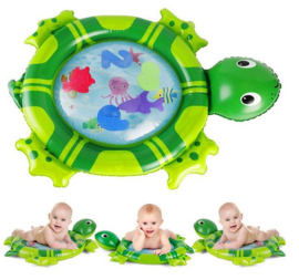 Opblaasbare baby water speelmat - schildpad