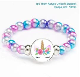 Kralen - parel armband unicorn - eenhoorn blauw