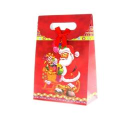 12 stuks kersttas - cadeautas afbeelding kerstman - 19x27x9cm