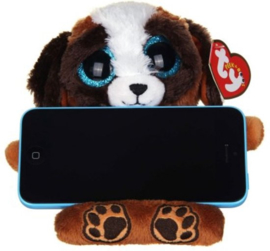 TY Pluche Hond met Glitter ogen Smartphonehouder Pups 15cm