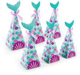 10 stuks Snoepdoosjes / candy box Mermaid - Zeemeermin