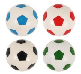 20 stuks stuiterbal voetbal 3,5cm