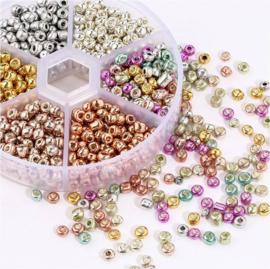 Doosje glaskraaltjes 1050 stuks - 4mm