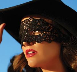 Sexy kanten masker zwart