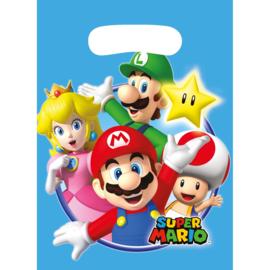 8 stuks traktatie - uitdeelzakjes Super Mario 23,5 cm