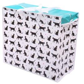 2 stuks grote opbergtassen katten / speelgoed opbergtas