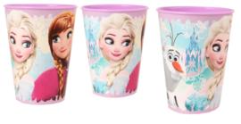 3 stuks Frozen Elsa en Anna kunststof bekers 260ml