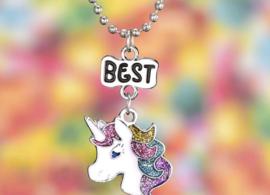 2 stuks vriendschaps kettingen - Best Friends Unicorn