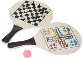 Beachballset Game - mens-erger-je-niet en schaken incl. spelaccessoires