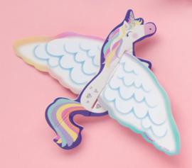 16 stuks bouwpakketjes Unicorn vliegtuig 13 x 17 cm