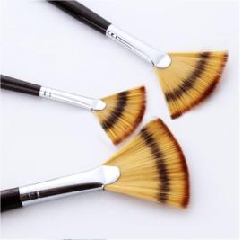 3 stuks waaier penselen nylon - verschillende maten