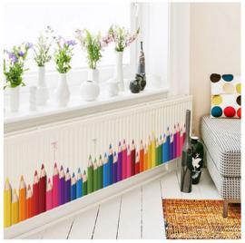 Muursticker potloden - kleurpotloden - potlood - kleurpotlood - Kinderkamer - Jongen - Meisje - Kinderopvang