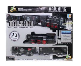 Speelset Trein + rails 13-delig (op batterijen)