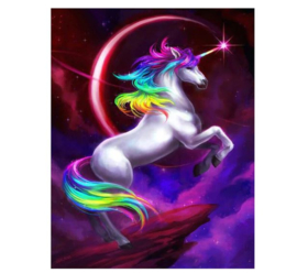 Diamond Painting Unicorn - eenhoorn 20x25 cm