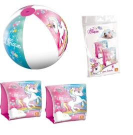 Unicorn zwemvleugels + strandbal