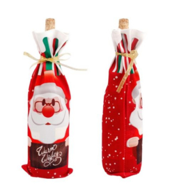 2 stuks flessen verpakking kerstman cadeauverpakking