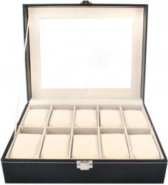 Horloge display - koffer voor 10 stuks horloges