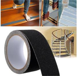 Rol met 3 meter anti-slip tape 5 cm zwart
