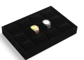 Armbanden / horloge display zwart 12 vakken