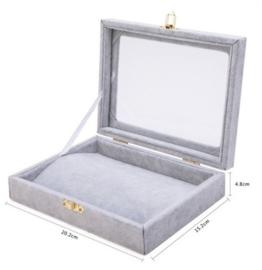 Armbanden display koffer grijs met deksel