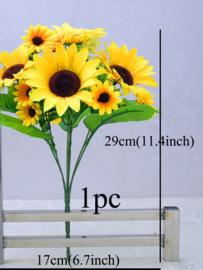 Kunst zonnebloemen 29 cm