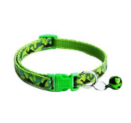 Halsbandje voor kat en puppy camouflage print met belletje