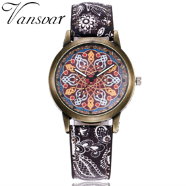 Vintage horloge analoog sierlijk