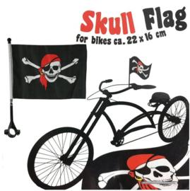 Piratenvlag voor op de fiets - GRATIS bij een bestelling vanaf 10 euro